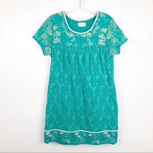 Miss Me Embroidered Lace Shift Dress M